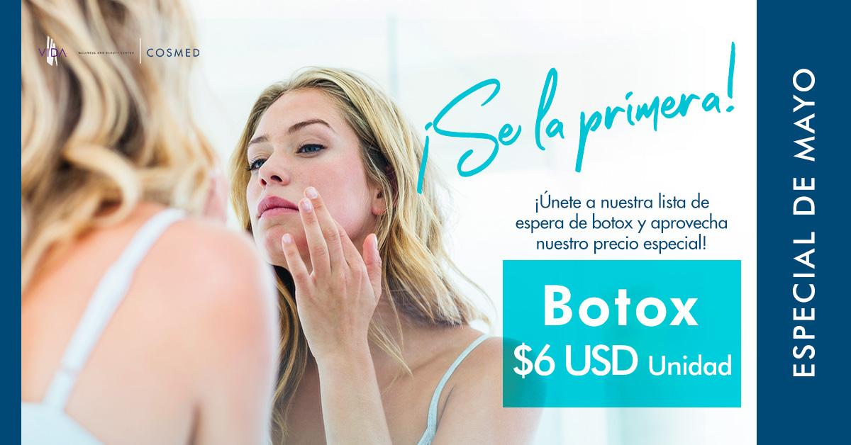 mayo, promocion, botox, anti-envejecimiento, clinica, belleza